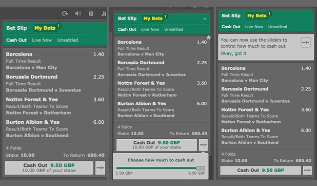 Bet365 betting slip